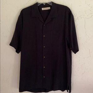 Tommy Bahama Men's Black 100% Silk camp shirt M